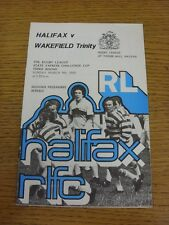 09/03/1980 Rugby League Programme: Halifax v Wakefield Trinity [Challenge Cup]