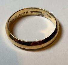 18K Gold Tiffany & Company Estate Antique Wedding Band Circa 1920'S Size 8