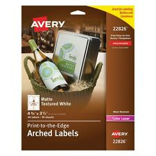 Avery Print-to-the-Edge Arched Wine Bottle Labels - 22826