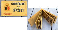 Ancien carnet de cartes postales, le château de Pau, 20 cartes N&B à détacher