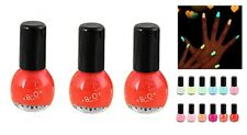 Vernis à ongle rouge-Fluorescent-LOT DE 3-GELPOLISH-PROFESIONNEL