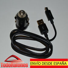 MINI CARGADOR MECHERO COCHE NEGRO+CABLE MICRO USB SAMSUNG GALAXY S4 I9500-S5830