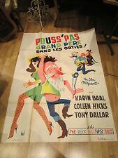 ancienne affiche cinema pouss'pas grand pere dans les orties hurel 1960