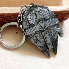 New Star Wars Spaceship Millennium Falcon Silver Metal Keychain Keyring fan gift
