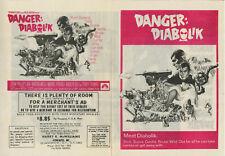 1968 DANGER: DIABOLIK US Herald • Dir. Mario Bava • John Phillip Law, Marisa Mel