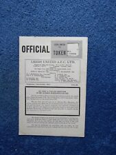 More details for 1965/66 league cup 2nd round leeds united v west bromwich albion programme...