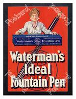 Historic Waterman's Ideal Fountain Pen, c.1905 Advertising Postcard