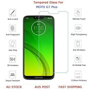 2 X Premium Tempered Glass 9H Genuine Screen Protector For Motorola Moto G7 Plus