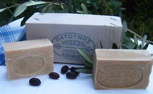 Patounis of Corfu - VEGAN olive oil SOAPS x 2 bars 'MILD' + 'GREEN' - ECO GIFTS