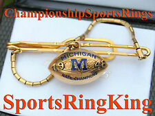 1948 MICHIGAN NATIONAL CHAMPIONSHIP 10K CHARM PENDANT w/ BONUS RING PRINT RARE!!