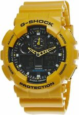 Casio G-shock Men's Ana-digital Orange Black Resin Quartz Watch - Ga100l 4acr
