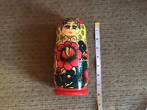 Set Of 5 Russian Babooshka Nesting Stacking Dolls