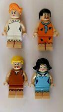 x4 Flintstones LEGO Minifigs Fred/Barney/Wilma/Betty Rubble (Hospiscare)