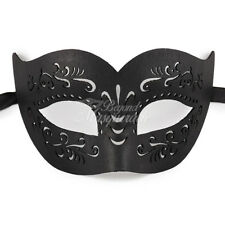 Black Leather Masquerade Mask for Men