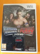 JEU NINTENDO WII @@ SMACK DOWN vs RAW 2010 @@  FEATURING ECW @@ COMPLET @@ PAL
