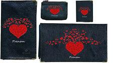 Porte Chequier Porte carte grise porte monnaie Coeur rouge Saint Valentin + nom