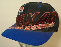 Vtg 1990s TEXAS MOTOR SPEEDWAY NASCAR RACING BIG LOGO LOGO 7 SNAPBACK HAT CAP