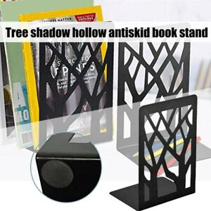 Quality Black Metal Non-Slip Bookend Bracket Heavy Book End Office Book Stopper