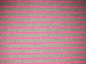 25 cm Jersey Kinderstoff Gestreift Rosa Pinke Streifen Auf Grau 15€/m