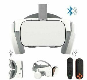 Wireless Virtual Reality 3D Glasses Headset Google Cardboard Bluetooth Helmet