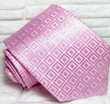 Cravatta nuova seta rosa 100% seta Top quality Made in Italy Morgana Italia