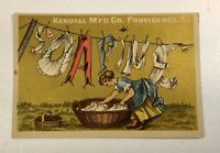 Soapine Women Hanging Out Laundry Vintage Advertising Victorian Trade Card P193