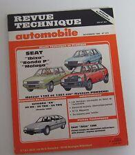 Revue technique RTA 473 Seat ibiza ronda p malaga mot 1193 1461 cm3  sys porsche