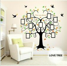 US Removable Vinyl Wall Decal Family Decor Photo picture frame tree Sticker Home