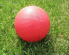 "1 NEW RED PVC 9"" PLAYGROUND KICKBALL DODGEBALL SCHOOL  KICK BALLS"