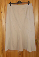 PER UNA M&S beige sand stretch corduroy gypsy boho maxi riding skirt 18R 46