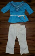 Retired American Girl Doll Saige's Tunic Outfit 2 piece clothing EXCELLENT