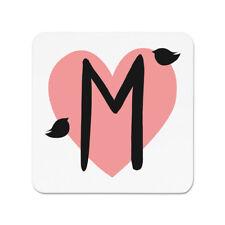 Letter M Heart Alphabet Fridge Magnet - Valentines Day