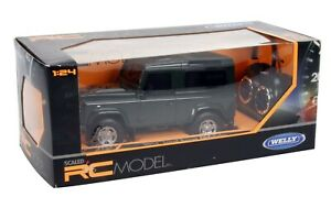 RC Welly Land Rover Defender 1:24 Scale In Green