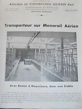 catalogue - dépliant transporteur aérien sur monorail Ardennes 08  ( ref 17 )