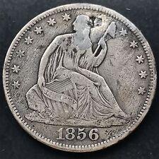 1856 S Seated Liberty Half Dollar 50c Rare Date San Francisco 4250
