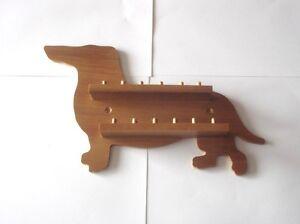 12pc Dachshund Wooden Thimble Display Rack ( Pine )( huge range - see list )