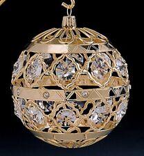 "SWAROVSKI CRYSTAL ELEMENTS ""Crystal Ball"" FIGURINE - ORNAMENT 24KT GOLD PLATED"
