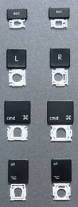 Macbook Pro Unibody replacement Keyboard Key Keys LATE 2008 - 2013 (HAS DVD)