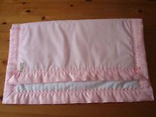 Handmade Lovely Pink/White Spotted Baby Cover & Pink Satin Blanket Binding
