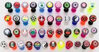 5 Logo Tongue Rings WHOLESALE Body Jewelry Barbells 14g Piercings 5/8""