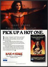 LOVE AT STAKE__Original 1989 Trade print AD promo__BARBARA CARRERA_KELLY PRESTON