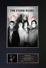 THE STONE ROSES Signed Mounted Autograph Photo Print (A4) No380