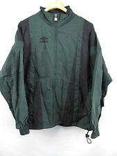 90s New Umbro World Cup Soccer Spell Out Full Zip Windbreaker Jacket Mens XL Green White, Vintage Umbro Jacket, 1990s Umbro Mens