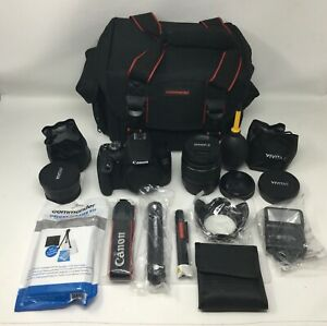 Canon EOS 2000D DSLR Camera Bundle with 18-55mm Lens + Accessories *NICE*