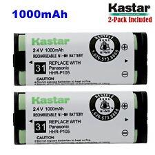 2xKastar Cordless Phone Battery NI-MH 2.4V 1000mAh For Panasonic HHR-P105 Type31