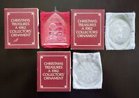LOT OF 3 *VINTAGE* 1982 LINCOLN HOUSE CHRISTMAS TREASURES COLLECTORS ORNAMENTS