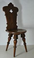 antiker Stuhl Bauernstuhl/Brettstuhl Bauernstube/Küchenstuhl massiv Eiche üppig