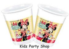 8 Disney Minnie Mouse Cafe Birthday Party Disposable 200ml Plastic Cups