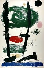 Joan Miró - Offset Plate Signed Lithograph Print on Arches Paper 16/50