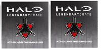 Halo Legendary 2 Pin BFF Set Lot Atriox And The Banished Jiralhanae Logo Symbol